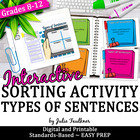 Types of Sentences {Structure} Human Sorting Game Test Pre