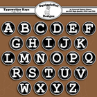 Typewriter Keys Puffy Brads Clip Art