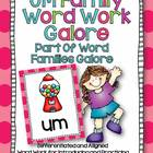 UM Word Family Word Work Galore-Differentiated and Aligned