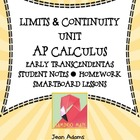 UNIT 1: Limits Guided Notes Homework and SmartBoard Lesson