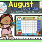 UPDATED!! ACTIVBOARD Calendar Math- August (English)