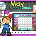 UPDATED!! ACTIVBOARD Calendar Math- May (English)