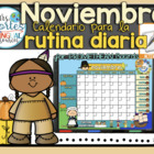 UPDATED!! ACTIVBOARD Calendar Math- Noviembre (Spanish)