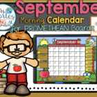 UPDATED!! ACTIVBOARD Calendar Math- September (English)