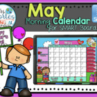 UPDATED!! SMARTBOARD Calendar Math-May (English)