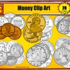 Money Clip Art: Penny, Nickel, Dime, Quarter, Half Dollar,