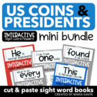 US Coins & Presidents Mini Bundle of Interactive Sight Wor