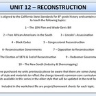 US History - Reconstruction - Complete Unit