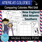 U.S. History- The 3 sets of American Colonies Worksheet