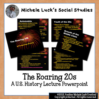 U.S. History The Roaring 20s Powerpoint Lecture Notes
