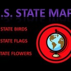 U.S. State Maps/Birds/Flowers in Pictures (PowerPoint) For