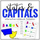 US States & Capitals - Interactive Notebook - INB States a