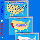 U.S.A. - Interactive States & Capitals w/Matching  - SMART
