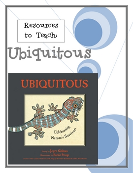 """Ubiquitous"", by J. Sidman, A Packet of Resources for the Book"