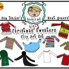 Ugly Christmas Sweater Clip Art Set