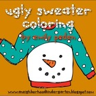 Ugly Sweater Coloring Sheet