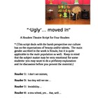 """Ugly moved in"" A Readers Theater Script [Theatre Scripts]"