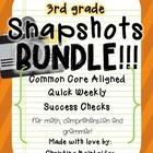 Ultimate 3rd Grade Snapshots Bundle- Math, Grammar, and Co
