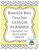 Ultimate Teacher Planner - Yellow and Grey Bumble Bee Theme