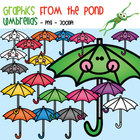 Umbrellas - Fun Clipart Graphics From the Pond