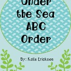 Under the Sea ABC Order {freebie}