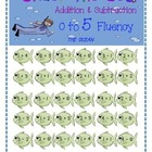 Under the Sea Addition & Subtraction 0 to 5 Fluency Game