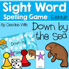Sight Word Game:  Under the SeaBoard Game