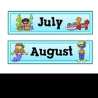 Under the Sea Theme Calendar Months