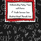 Understanding Poetry, Prose and Drama {4th Grade Back to S
