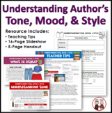 Understanding an Author's Mood, Tone, and Style Reading Activity