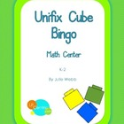 Unifix Cube Bingo Center