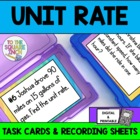 Unit Rates Task Cards and Recording Sheets CCS  7.RP.1