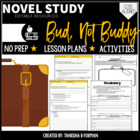 Unit Study. Bud Not Buddy with Lessons and Vocabulary