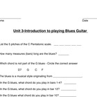 Unit Test on Blues Music