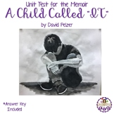"Unit Test with answer key for the memoir A Child Called ""I"
