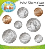 United States Coins Currency Clip Art — Comes In Color and
