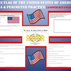 United States Flag ~ Area & Perimeter Practice w/ Answer Key