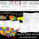 United States Fluency, Comprehension, and Map Quiz Packet