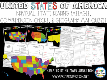 http://www.teacherspayteachers.com/Product/United-States-Fluency-Comprehension-and-Map-Quiz-Packet-821473