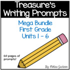 Units 1-6 Writing Prompts Bundle Pack Treasures Series, Fi