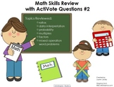 Upper Elementary Math Skills Review Flipchart with ActiVot