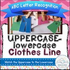 ABC Matching Game (Uppercase-lowercase Clothes Line)