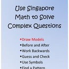 Use Singapore Math to Solve Complex Questions