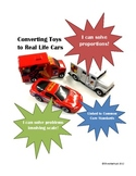 Using Scale and Solving Proportions ~Converting toys to re