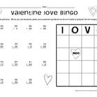 Valentine Addition Bingo - Double Digit Addition with Regrouping