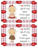 Valentine Angel Teacher Cards