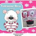 Valentine Bear on a Stick - Valentine's Day Writing Prompt
