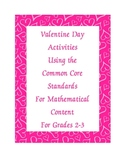 Valentine Day Activity - Common Core  Math Standards For G