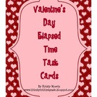 Valentine Elapsed Time Task Cards