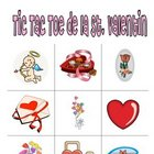 Valentine Game and Worksheet for French Class:  Tic Tac Toe